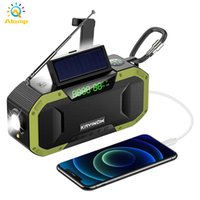 Многофункциональная аварийная радиостанция на солнечной энергии Погодные портативный Bluetooth-динамик Radios 5000mAh USB аккумуляторная лампа.