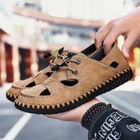 Olomm verão homens sandálias luz respirável praia sapatos originais zapatos de hombre adulto de alta qualidade homens sapatos casuais sapatos lisos wedge u5pj #
