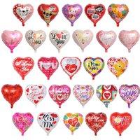 18 بوصة نفخ عيد الحب حزب بالونات الزينة فقاعة الألومنيوم فيلم بالون أنا أحبك القلب بالونات اللعب اللوازم 213 U2