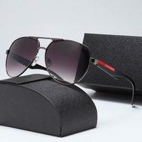 2020 Migliore Qualità Lente in vetro Occhiali da sole Designer Fashion Gold Frame Blu Specchio Occhiali da sole per uomo e donna UV400 Sport Sun Glasses4017