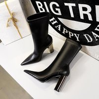 Fashion casual color matching round head women's designer boots women's casual slip leather women's boots cowboy shoes