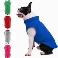 Vêtements pour chiens 2021 S-XL Faroot Divers Pierre Pierre Petit chat Vêtements chauds de chaleur Sinild Couleur Vest T-shirt 5 couleurs