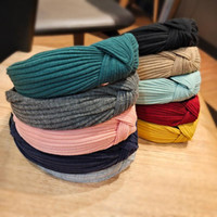 Hair Accessories Stripe Ladies Female Knot Headbands For Girls Simple Solid Candy Color Cloth Hairbands Hoop Women Adult