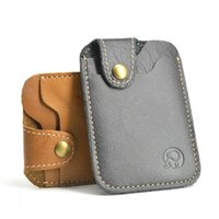 Card Holders Wholesale 100% Real Leather Skin Holder ID Wallet Thin Pocket Slim Cash Cards Pack Travel Accessories