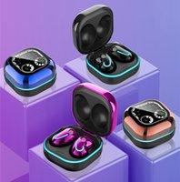 S6 SE TWS 블루투스 이어폰 마이크 스포츠 귀 싹이있는 무선 헤드폰 쌍둥이 BT 5.1 이어폰 HIFI 안드로이드 iOS 전화 용