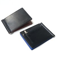 Wallets Arrival Slim Men's Leather Money Clip Wallet With Coin Pocket Bank Card Slots A Metal Clamp Cash Holder Purse For Man