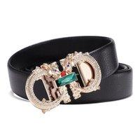 2021 NEW Luxury Brand Famous Designer Men Belt High Quality Male Genuine Leather Strap Waist Wedding Fashion Rhinestone Automatic Buckle