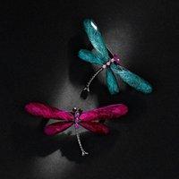 دبابيس، دبابيس الأزياء اليعسوب للنساء خمر الحشرات الحيوان بروش دبوس المجوهرات