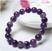 Free Ship ping on Natural Amethyst Beaded Bracelet