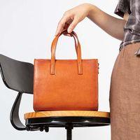 HBP AETOO 2020 new simple leather handbags niche design tote bag portable diagonal bag