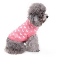 Dog Apparel Sweater For Girl Sweet Pullover Autumn Winter Warm Year's Knitted Costume XS~ XXL Small Medium Big Pet Cloth F1124