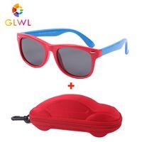 نظارات نظارات أطفال استقطاب الفتيان سيليكون الإطار الشمس النظارات الشمسية للأطفال نظارات الطفل مع فتحات السيارات للبنات