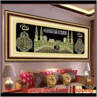 Diy Diamond Painting Cross Stitch 5D Diamond Embroidery Mosaic Islam Muslim Religion Part Resin Round Rhinestone Needlework F233 0930 Plwcd