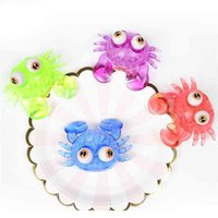 Creative Cool Boys Girls Squeeze Frog TPR Big Eye Crocodile Whale Mega Jumbo Size Squishy Stressball Toys Squeezy Vent Ball Animal with Beads for Kids G73PUP6