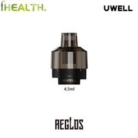 Uwell Aeglos H2 빈 포드 카트리지 4.5ml 분무기 0.18OHM DTL / 1.2OHM RDL + MTL 코일 1PCS / 팩