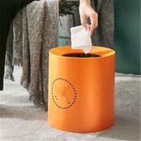 Lixo nórdico lata de casa sala de estar creative wc wc banheiro resíduos caixas grandes high-end simples moderna luz luxuosa cesta de papel de luxo