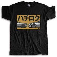 Herren T-Shirts Mode T-Shirt Männer Crew Hals T Shirts Japanische Auto Fans 86 AE86 Sprinter Levin GT Apex JDM T-Shirt Baumwolle Tshirt für Jungen