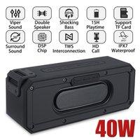 40W TWS Interconnection Card Insert Wireless Bluetooth Speaker Waterproof Call Function Portable Outdoor Surround Sound Mini