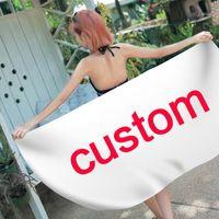 Towel Customize Drop Printed Microfiber Square Beach For Adult Yoga Swimwear Cover Bathroom Big Mats