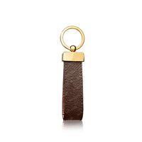 2021 Keychain Key Catena Fibbia Amanti Portachiavi auto portachiavi a mano Portachiavi in pelle Uomo Donna Borsa Accessori Pendente 4 Colore 65221 con scatola