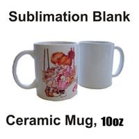 Сублимационные заготовки кружка личности термальная передача керамическая кружка 10 унций белая водяная чашка вечеринка подарки для питья FY4483