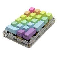 21 23 24 Anahtar YMDK Programlanabilir Port Makro Fonksiyonu MX Kiraz Switches Mekanik Klavye Numpad Lol Battlegrounds için Numpad