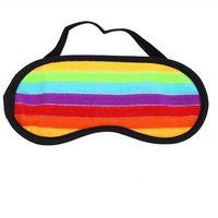 Cleaning 1 Pcs Eye Face Mask Sleep Blindfold Eyeshade Traveling Aid Cover Goggles Nap Shade Rainbow Striped Rest