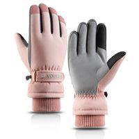 Q807 스키 장갑 여성 가을 겨울 터치 스크린 방수 차가운 증거 봉제 펄스 화면 스포츠 따뜻하고 방풍