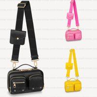 أعلى جودة جلد طبيعي مربع فائدة crossbody حقائب الكتف حقيبة المرأة الرجال حمل رفرف الفاخرة مصمم امرأة الأزياء مساء كاميرا الحالات بطاقات حقيبة يد m80446