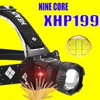 HeadLamp XHP199 Headlamp Lanterne le plus puissant XHP110.2 USB XHP160 Headlight Headlight rechargeable 5200mAh Tête d'induction