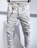 D2 Phantom Tortue Classic Fashion Homme Jeans Hip Hop Rock Moto Mens Décontracté Design Décontracté Jeans Détresse Skinny Denim Biter D2 Jeans 693 qgs