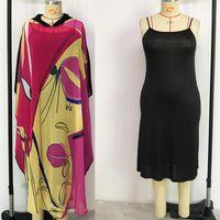 2 Parça Set Moda Kadınlar Için Casual Şifon Afrika Elbiseler Yeni Dashiki Baskı Geleneksel Parti Vestidos Afrika Giyim 2021