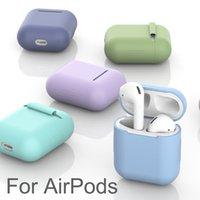 Earphone Accessories Casos de silicone macio for airpods 1 2 caso protetor tpu bluetooth sem fio fone ouvido capa para vagens ar caixa carregamento