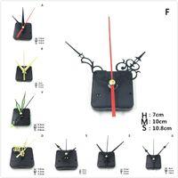 Styles DIY Clocks Parts Quartz Clock Movement Mechanism Repair Parts Black + Hands Replacement Parts Kit Set
