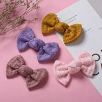 Meninas acessórios de cabelo fitclips bebê bb clip kids barrettes clipes childrens laço bonito arcos Bowknot B7322