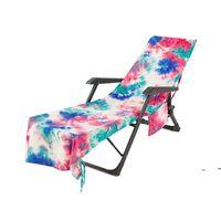 New Tie-Dye Beach Seden Sedie con tasca laterale colorata chaise lounge tovaglioli copre lettino sdraio prendisole Assorbimento d'acqua EWE7571