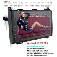 2din IPS 9'''4g + 64g Android 10 voitures GPS Vecteur audio pour / B200 / A B Classe / W169 / W245 / Viano / Vito / W639 / Sprinter W906 RDS BT WIFI voiture DVD