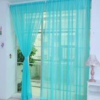 Натуральный цветочный тюль Voile Window занавес драпировку