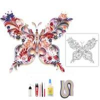 Altre Arti e Artigianato Kit Quilling fai da te Farfalla Carta artigianale 3D Fiori Home Decor Decorazioni regalo Scrap K2E2