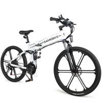 Yeni Elektrikli Dağ Bisikleti SameBike LO26-II Iki Tekerlekler Elektrikli Bisikletler 500 W 48 V 21 Hız MTB Elektrikli Katlanır Bisiklet