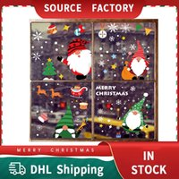 Christmas Decorations Santa Claus Moose Snowflake Static Electricity Stickers Shopping Mall Glass Window Holiday Decoration Wall