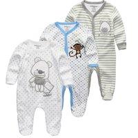 Kiddiezoom 2/3 / 4 ШТ. / Установить детские рубашки Одежда для одежды Новорожденная Одежда Boys Romber Летние Roupa Infantil Outfit Costumes 210309