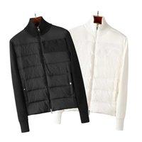 프랑스 고품질 망 아래로 재킷 편지 Monclair 니트 여성 파카 패널 캐주얼 코트 폭격기 재킷 디자이너 남자 s 의류