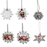 Sublimation Blank Snowflake Pendants Christmas Ornaments Thermal Transfer Printing Blanks Ornament White Customized DIY Xmas Tree Decor