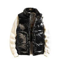 2021 осень и зимний стойковый воротник хлопчатобумажная куртка Parka мужская повседневная чистый цвет жилет мужчина корейский модный пальто