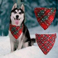 Dog Apparel Bandana Scarf Cat Collar Accessory Pet Puppy Plaid Chihuahua Triangular Bandage Accessories