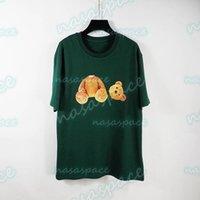 Mens de verão camisetas tees designer de moda urso de alta qualidade imprimir manga curta 3 cores jovens hip hop streetwear tamanho s-xl
