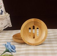 trays Round Mini Soapss Dish Creative Environmental Protection Natural Bamboo Soaps Holdering Drying Soap Holder Bathroom Accessories
