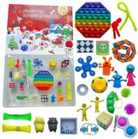New 24pcs Christmas Fidget Toy Blind Box Party Advent Calendar for Girls Boys Kids Adults Surprise Relief Stress Count Down Holiday