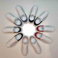 2021 Бренд Роскошный дизайнер Мужчины Мода Женская Обувь Кожаные Кружева Платформа Негабарита Оплачивается Повыхая Поформулируемый Белый Повседневная Обувь с коробкой размером 35-45